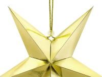 Spiegelnder Papierstern in Gold 30cm