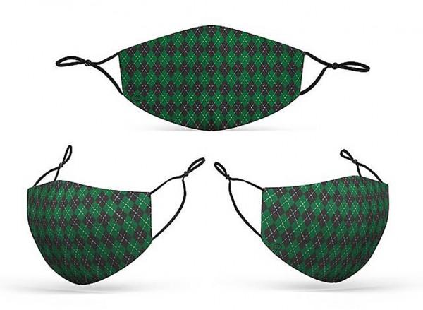 Mund Nasen Maske Zauberschule grün für Erwachsene