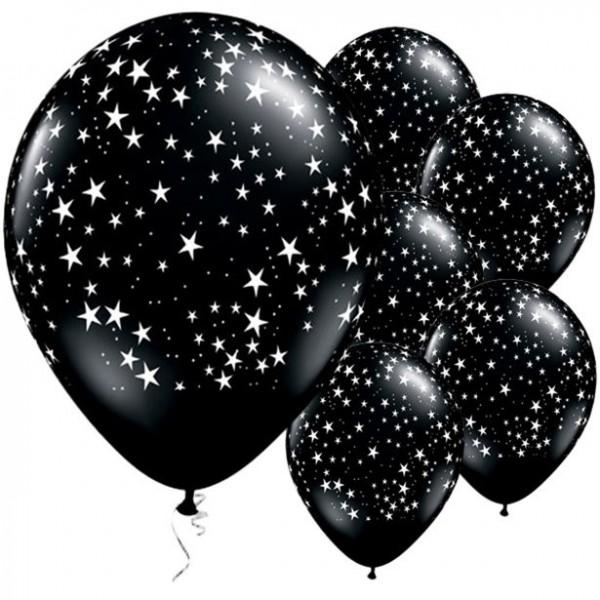 25 Milchstraßen Sternen Ballons 28cm
