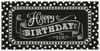 Happy Birthday To You Banner Black & White Party 165cm