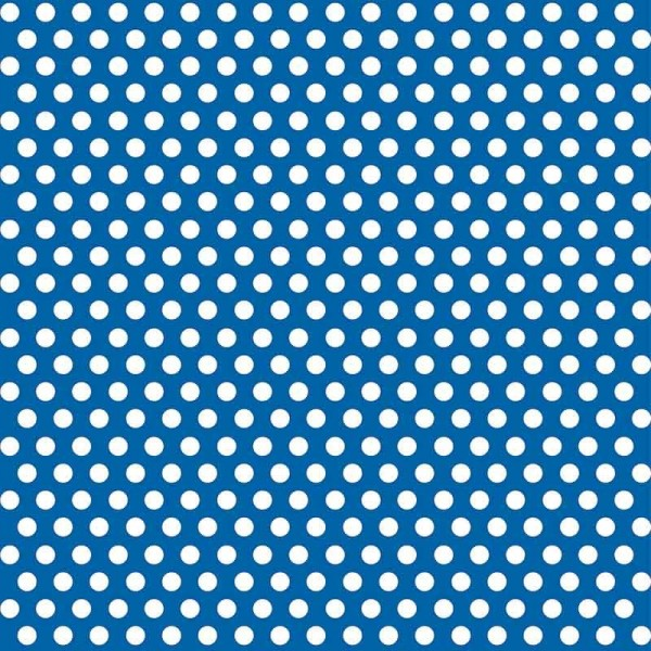 Papier cadeau Tiana bleu à pois 76 x 152cm