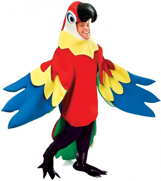 Papageienkostüm Ganzkörper Deluxe