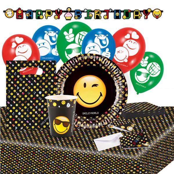 Set de fiesta emoticonos smiley 66 piezas