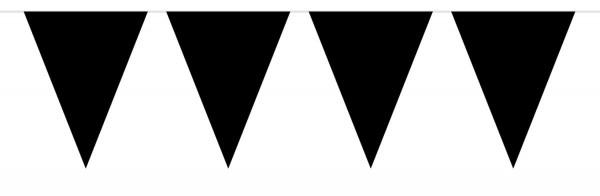 Große Wimpelkette Schwarz 10m