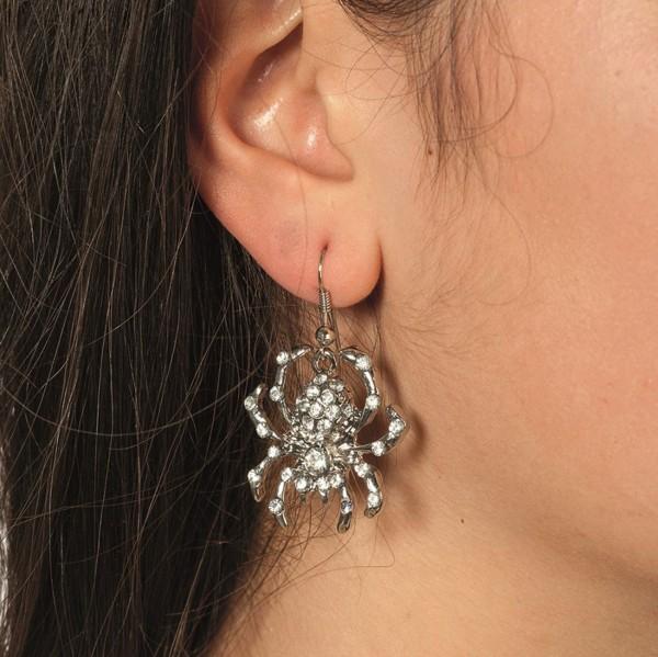 Stylische Spinnen Ohrringe