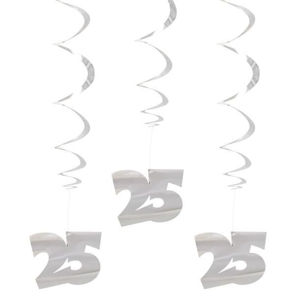 3 cintres spirale argent 25
