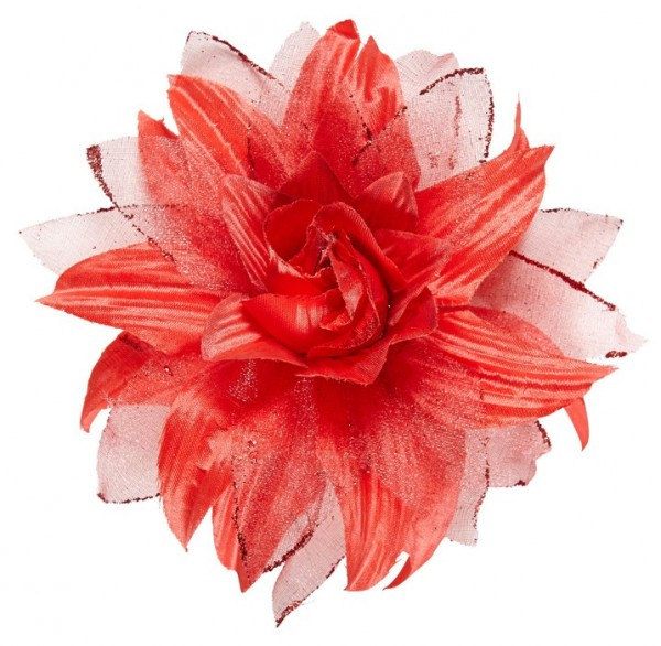 Red Floratina flower hair clip