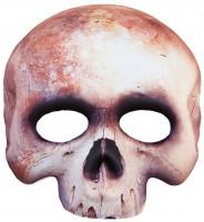 Halbmaske Aus Stoff Totenschädel