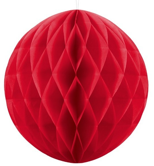 Honeycomb ball Lumina red 40cm