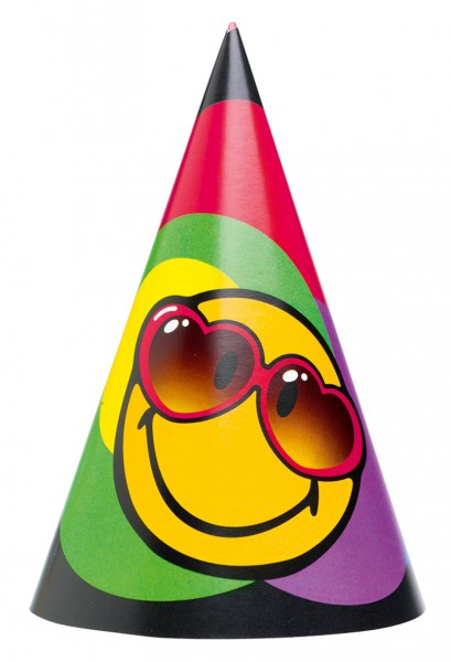 Crazy Smiley Party Hat Express Yourself Set of 6