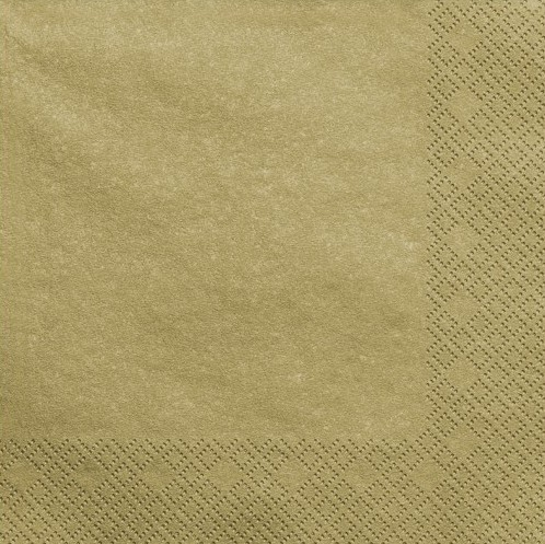 20 napkins Scarlett gold metallic 33cm