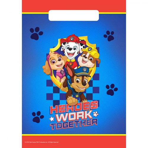 8 borse regalo Paw Patrol Action