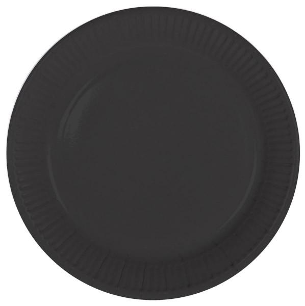8 talerzy papierowych Cleo czarny 23 cm