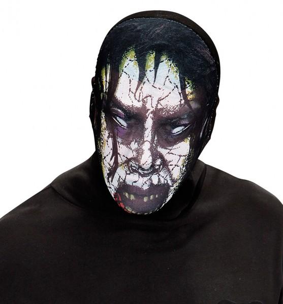 Untote Zombiemaske aus Stoff