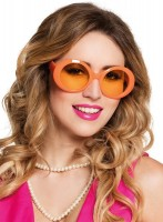 Vintage Neon Brille Orange