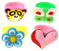 10 Süße Gummiringe für Kinder