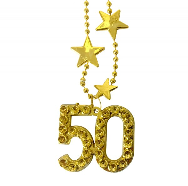 Halskette Big Stars Zahl 50