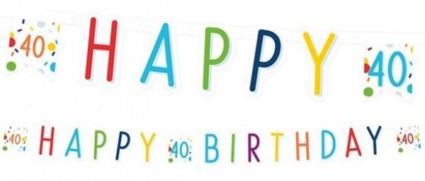 Guirnalda de confeti para fiesta 40 cumpleaños 1.8m