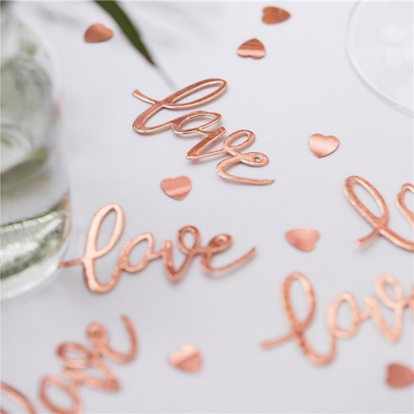 Love and heart sprinkle decoration in bronze 13g