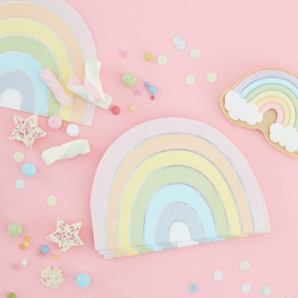 16 servilletas Rainbow Pastel 33cm