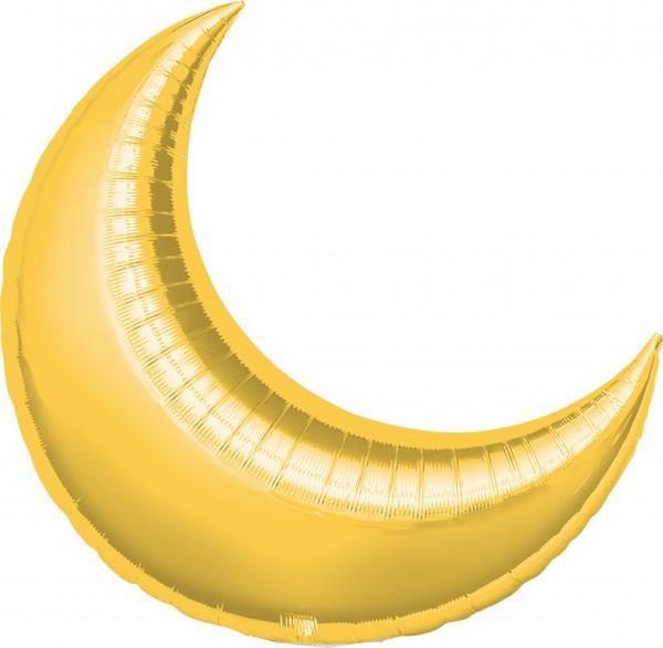 Gold schimmernder Folienballon Luna 43cm