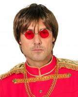 John Lennon Brille Rot