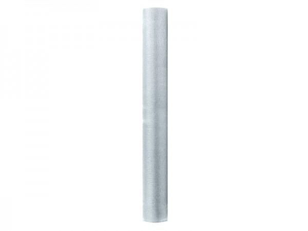 Organza Stoff Elisa silber 9m x 36cm