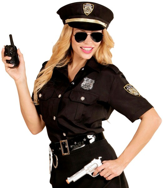 Policewoman on patrol blouse