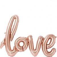 Folienballon Love roségold 76cm