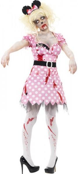 Blutiges Zombie-Mäuschen Kostüm