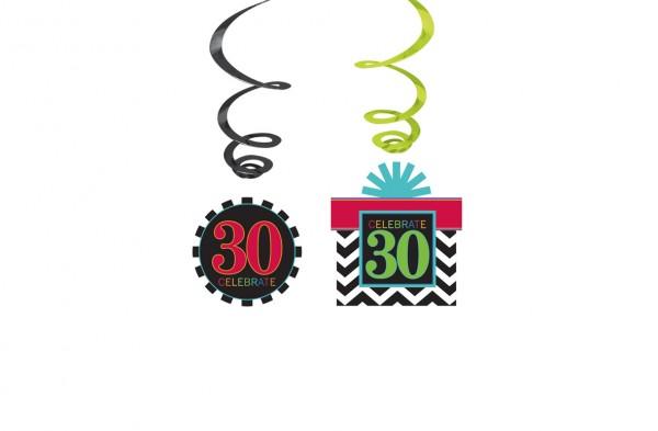 30.Geburtstag Celebration Wirbel Hängedekoration