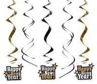 5 Silvester Fest Spiralhänger 60cm