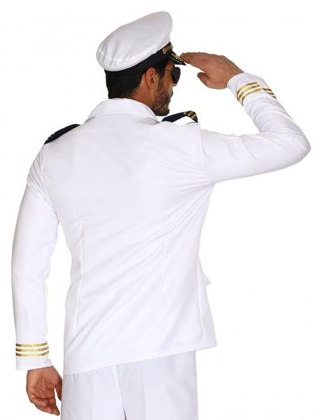 Kapitänsjacke weiß-gold für Herren
