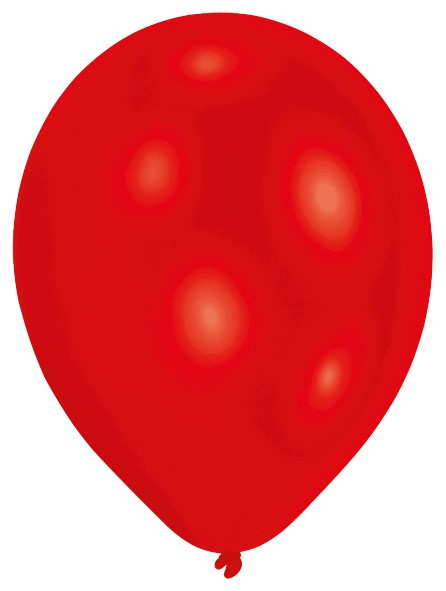 Set of 50 red balloons 27.5cm