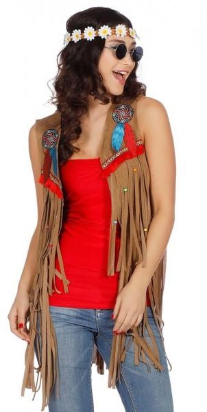 Kelly fringed vest for women