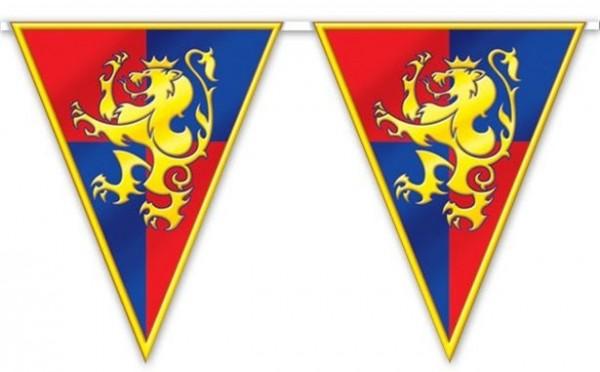 Cadena de banderines con escudo de armas Ritter 3,7 m