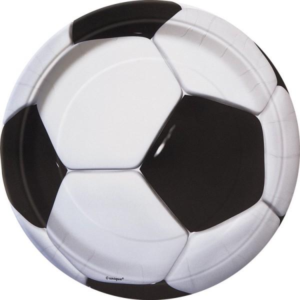 8 große Fußball Teller Soccer Team