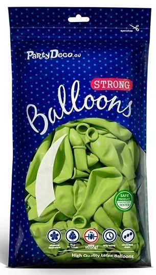 10 ballons vert citron 27cm