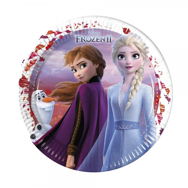 Frozen 2 Pappteller 8 Stück 23cm