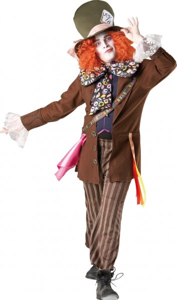 Crazy hatter men's costume