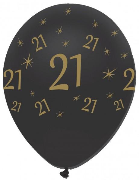 6 Magical 21st Birthday Luftballons 30cm