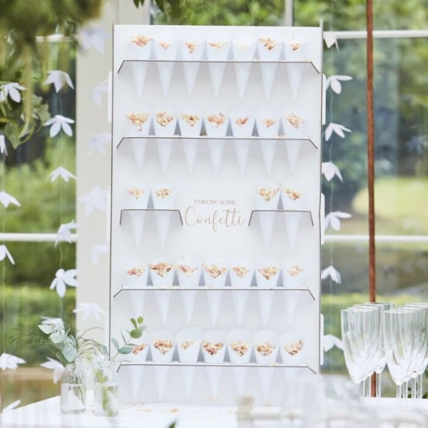 Floral wedding confetti bags stand 72cm