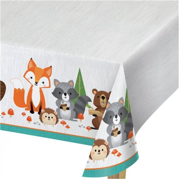 Forest animal party tablecloth 2.6 x 1.4m