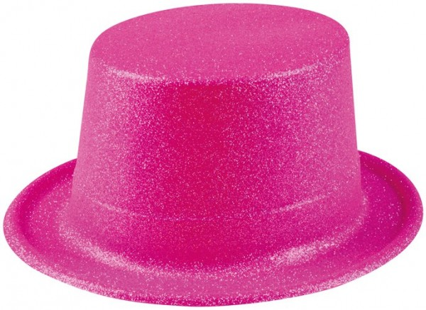 Fucsia Glitzer Hut In Neon Pink