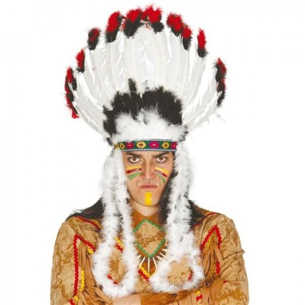 Indianer Häupfling Federkopfschmuck für Erwachsene