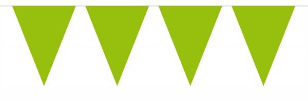 Collana grande pennant verde chiaro 10m
