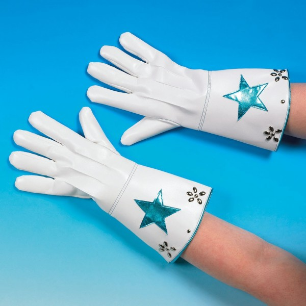 Handschuhe Viva Las Vegas Look Weiß