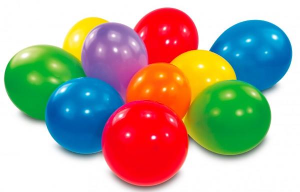 30 globos de colores 17,8cm