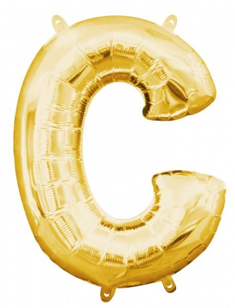 Palloncino mini foil lettera C oro 40cm