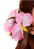 Rosa Hibiskus Blumen Haarspange